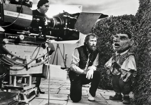 Director Jim Henson on the set of Labyrinth (1986).
