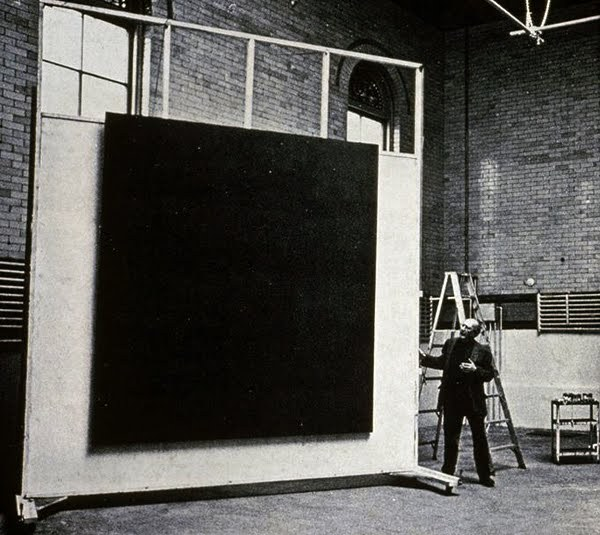 Mark Rothko in his 69th Street studio, ca 1964.   Photo Hans Namuth.