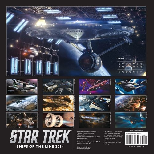 First look at Ships of the Line 2014 calendar! More Star Trek calendar news, here.