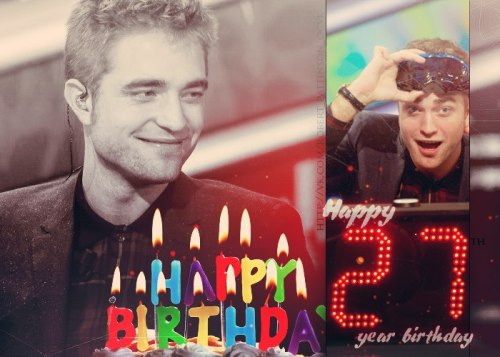 Happy Birthday Robert Thomas Douglas Pattinson! Made by Anastasia Vasilyeva for ROBERT PATTINSON (OCVK)