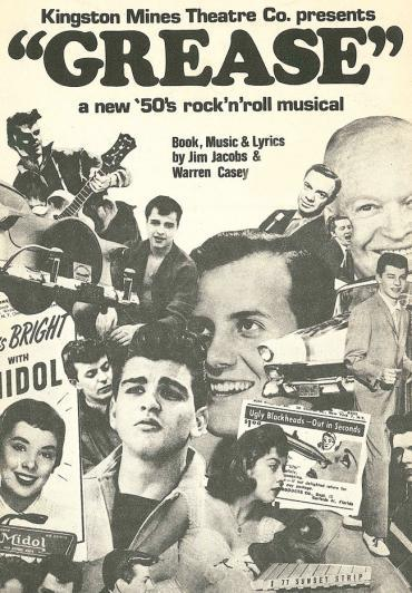 Most people don't realize that the musical, Grease, was originally about 1950's high school life in Chicago. We can thank Hollywood and Broadway for dramatically changing locales and Chicago references. Grease first premiered at the original Kingston Mines in 1971. photo via WTTW