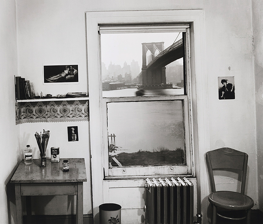 Rudy Burckhardt - A View From Brooklyn, 1954 via Art Blart
