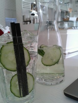 In honor of my sister's birthday : a cucumber soda at ODC