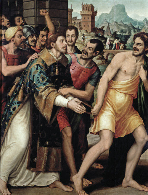 Vicente Juan Massip - Saint Stephen Being Led to Martyrdom; Museo del Prado, Madrid, Spain; 16th century
