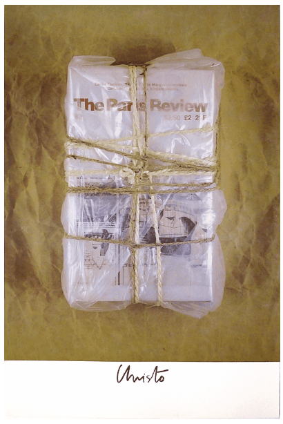 theparisreview:  Christo, Untitled, 1982