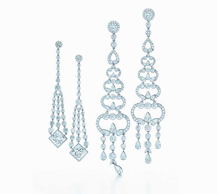 Tiffany has designed chandelier earrings since the great society balls of the late 19th century. Now as then, these spectacular diamond creations complete a dressing ritual that anticipates nights of ultimate elegance.