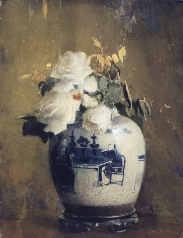 a-l-ancien-regime:  Anna S. Fisher (1873–1942)  The White Roses circa 1922 Brooklyn Museum