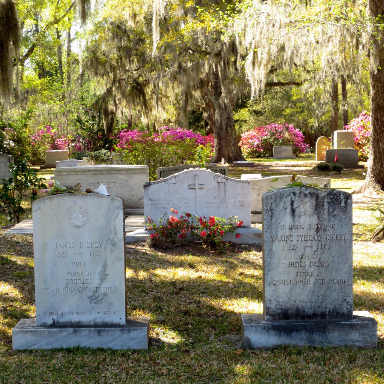 A recent picture of my parents' grave at All Saints Waccamaw in Pawley's Island, South Carolina
