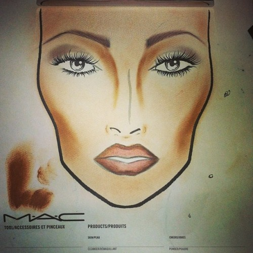 Late night practice. #progress #facecharts #makeupartist