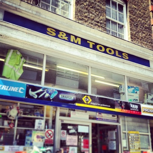 S&M Tools!!!! #SFW #shopfront #leatherlane #clerkenwell #boroughofcamden #london (at Leather Lane Market)