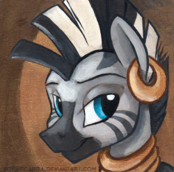 artfella:  Have some zecora! Square Series - Zecora by *sophiecabra