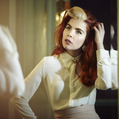 Ken Tucker on Paloma Faith's new album, Fall to Grace:     Inevitably, as a young white female British singer with R&B and classic pop influences, Faith has been compared to both Amy Winehouse and Adele. She falls somewhere in the middle of the two: less blood-and-guts soulful than Winehouse; aspiring to the anthemic pose that Adele achieves with ease. On stage, she tends to dress very formally, with long brocaded dresses; when she appeared on David Letterman's show, her hair was done up as though she planned to go uptown to attend the opera at Lincoln Center after the taping. If Paloma Faith can maintain the quality of the music she's making, she's going to have lots of fans following her every musical and social cue.     Image of Paloma Faith courtesy of Epic Records.