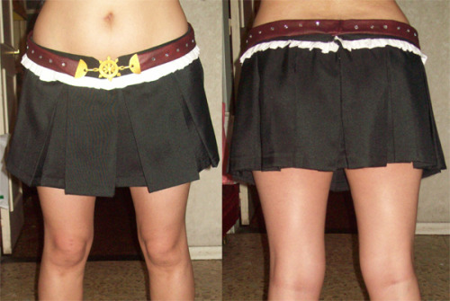 I finally finished this skirt and belt, OMG. So happy :3  I only need to finish the top, jacket, hat and boot covers! I'd say I'm about half-way haha. Wish me luck ^_^