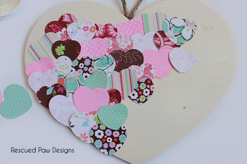 Paper & Wood Heart Decoration :: Rescued Paw Designs