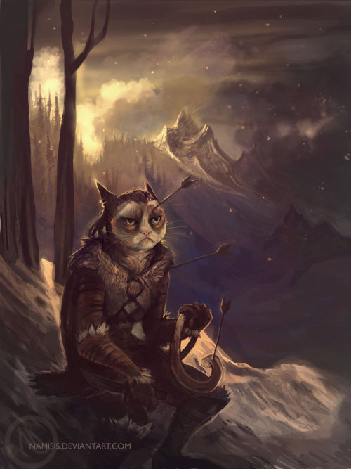 Grumpy cat - new adventures by ~namisis [via] Fus NO Dah! Artist: deviantART