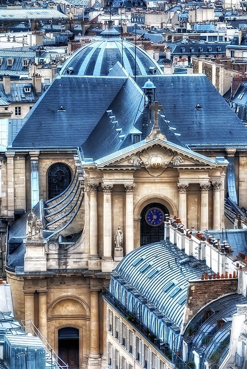bluepueblo:  Roof Top, Eglise Saint-Roch, Paris photo via alexandra       (via TumbleOn)