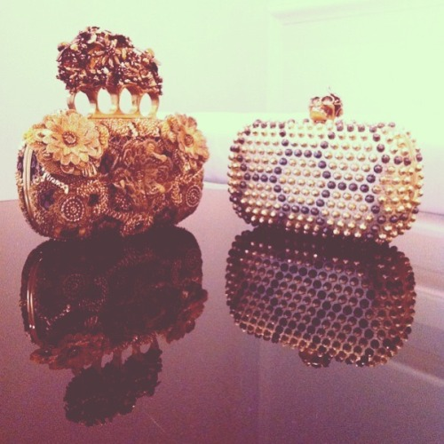 new alexander mcQueen knuckleduster clutches ! via http://www.net-a-porter.com/Shop/Designers/Alexander_McQueen/Accessories