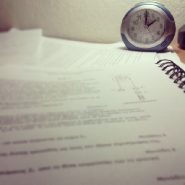 Late night Physics… The clock is ticking slowly..