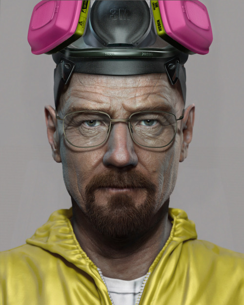 breakingbadamc:  I am a 3d character artist at Sony computer entertainment and i am also a huge fan of breaking bad, here is a fan art piece that i did for breaking bad, hope you guys like it!   Outstanding!
