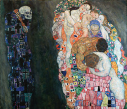 likeafieldmouse:  Gustav Klimt - Death and Life (1910/15)