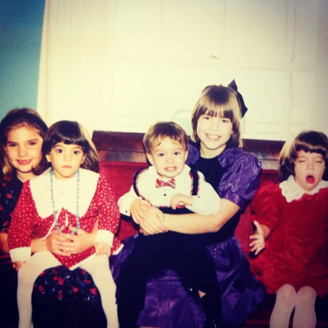 Throwback Thursday dedicated to my Warder cousins!  Found this gem again when I was last home and it's too classic not to share. Mary Katherine is in her usual sneezing pose, and I am just DONE. #tbt #family #cousins #awkwardfamilyphotos