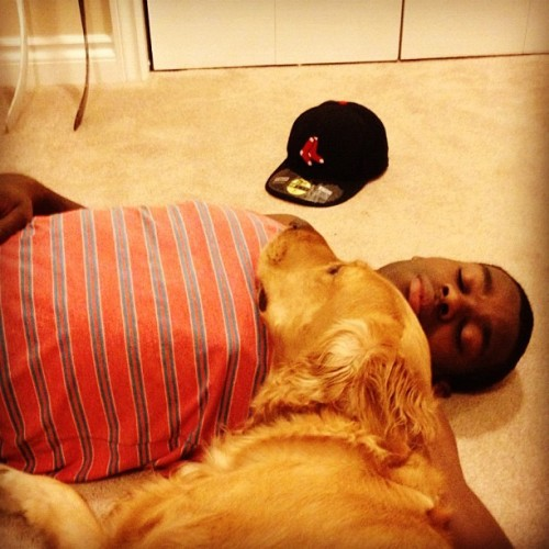 Malcolm Subban and his dog, Buddy (Source: malkeyjay)