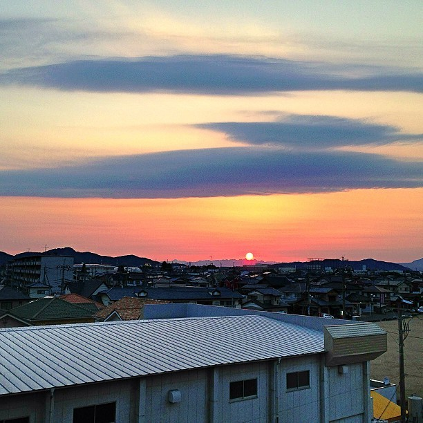 本日もお疲れでした。  #photooftheday #iphone #instagram #ashikaga #sky #sunset