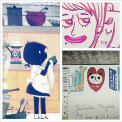 @ju_roanoke sent! :D #postcards #postcard #postcrossing #swap #fiep #jipenjanneke #illustration #doodle #stickers