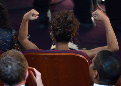 Quvenzhane Wallis as she is announced as a Best Actress nominee