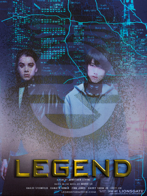 MOVIE POSTERS OF BOOKS I READ IN 2013 #2. Legend (Marie Lu)