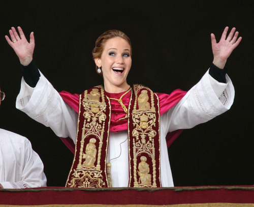 The world has spoken: Jennifer Lawrence for Pope.
