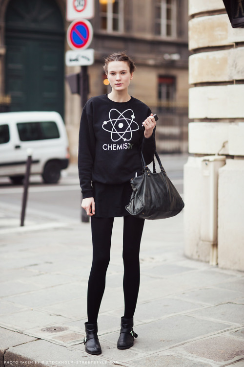 what-do-i-wear:  irina kulikova  (image: stockholmstreetstyle)