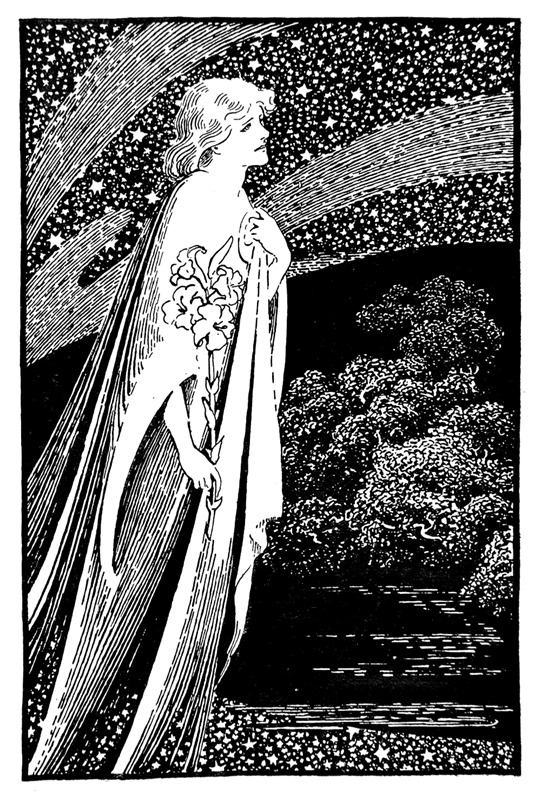 'The Coming of the Faerie Lady' by W. Graham Robertson, 1911. - Source