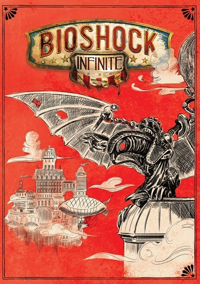 The reverse cover for BioShock Infinite has been revealed. The art won 38% of fan votes in a competition to decide what art would feature on the reverse side of the cover. Ken Levine has reassured the remaining 62% of voters that they will be able to print the other art that they voted for.