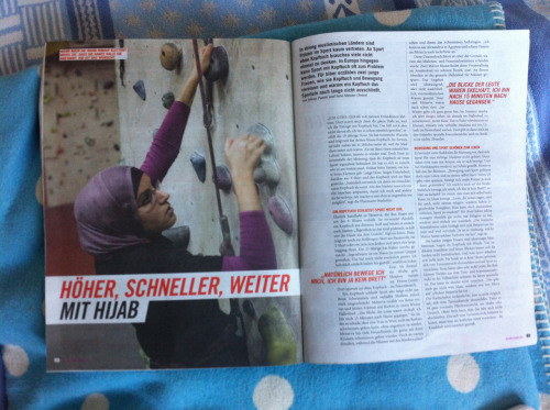 my picture of nour in the current issue of biber magazine