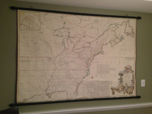 This is my favorite decoration in our house. It's the Mitchell map of the Americas, circa 1755.  What's your favorite place or thing where you live? Can we make this a thing?