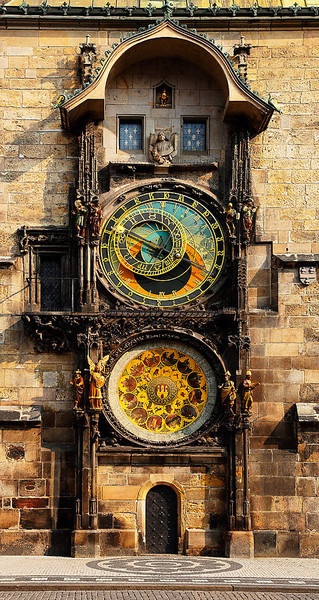 satiricdancer:  European photo of astronomical clock in the Old Town Square of Prague, Czech Republic by Dennis Barloga | Photos of Europe: Fine Art Photographs by Dennis Barloga on @weheartit.com - http://whrt.it/10AC42E