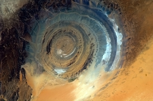 colchrishadfield:  The Richat Structure. A giant gazing eye upon the Earth.