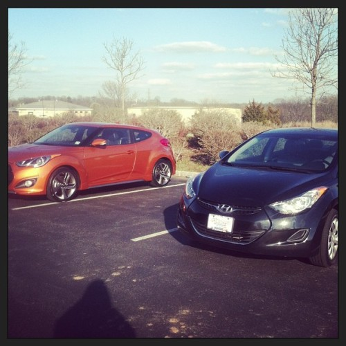 Velma and Louise… @dayitgetstired 's new car and mine