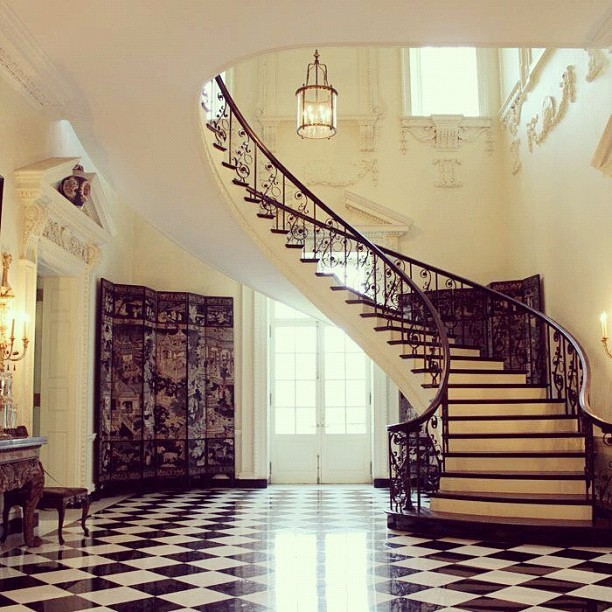 Staircase inside Atlanta's historic Swan House.