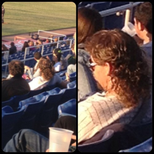 #kennypowers sighting! #binghamton #bmets #nysegstadium #mullet #jerrycurl #hellashades (at NYSEG Stadium)