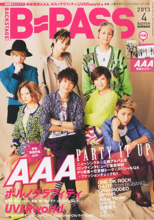 takauno:  「B-PASS」 April 2013 (AAA Cover). Source: Amazon + TAKAUNO (fitting).