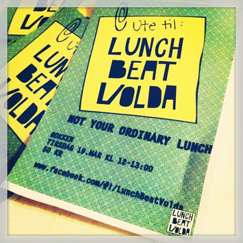 "@MissMulders: Coming up,#volda : #LunchBeat! Mark the following in ur calendars on the 19th, 12-1pm: ""Out for lunch… http://t.co/4tIjRD7sYq"