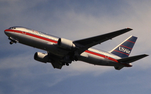 sboutellie:  USAir Boeing 767-200 by Deanster1983 on Flickr.