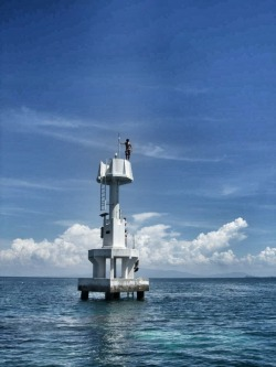 Yup. Jumping from a lighthouse in the middle of the sea is just something you can do in Malaysia!