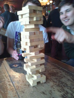 We had an intense game of jenga the other day.