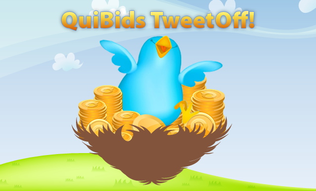 The QuiBids January Tweet-Off has begun! Check out our blog for the details:   http://bit.ly/WlQQsA http://on.fb.me/S5K3rq