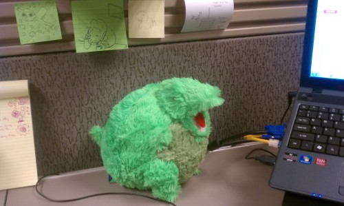 T-Rex makes my cubicle one thousand percent less depressing!