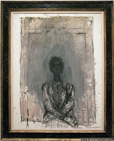 Annette the Artist's Wife, Alberto Giacometti, oil painting