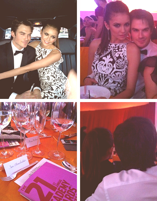 Ian Somerhalder x Nina Dobrev - 21st Annual Elton John AIDS Foundation Academy Awards Viewing Party